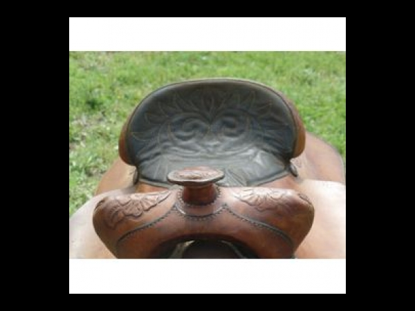 Hereford Brand Tex Tan Of Yoakum Saddle   Selle-Cheval-Occasion
