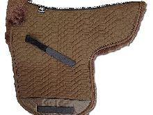 ENGEL GERMANY Tapis de selle en peau de mouton Pony couleur coton marron (Sadek 3 Pony) (selle neuve)