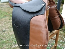 Selle équitation cheval taille 17,5