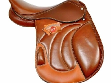 Brown Jumping Dressage Fermer Contact Cuir Selle et Tack de cheval anglais.