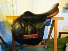 Selle d'équitation d'obstacle 17 p. sellerie MACEL -  CUIR Excellent Etat