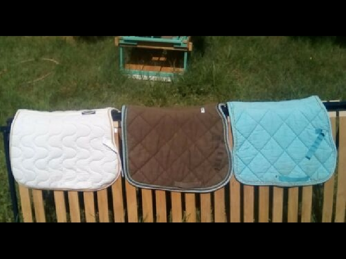 lot de 3 tapis de selle taille poney