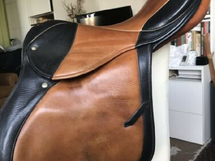 selle equitation cuir Stubben Bi Color